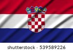 croatia waving flag 3d... | Shutterstock . vector #539589226