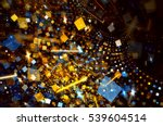 fireworks on holiday party.... | Shutterstock . vector #539604514
