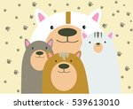 bear family | Shutterstock .eps vector #539613010