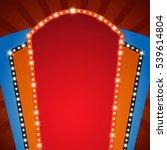 retro stage shining banner...   Shutterstock .eps vector #539614804