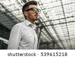 close up of handsome... | Shutterstock . vector #539615218