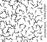 seamless pattern with question... | Shutterstock .eps vector #539615989
