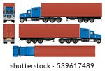 container truck vector mock up. ... | Shutterstock .eps vector #539617489
