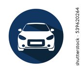 car front view icon   Shutterstock . vector #539620264