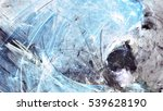 cold blue winter pattern with... | Shutterstock . vector #539628190