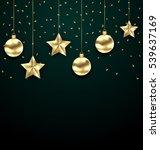 illustration christmas dark... | Shutterstock .eps vector #539637169