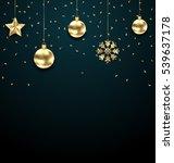 illustration christmas dark... | Shutterstock .eps vector #539637178