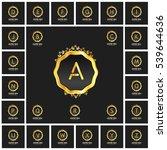 a to z set luxury logos... | Shutterstock .eps vector #539644636