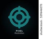 target   pixel icon. vector... | Shutterstock .eps vector #539646070