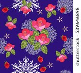 winter seamless pattern with... | Shutterstock .eps vector #539646898