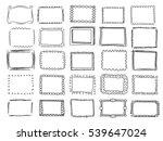 simple doodle  sketch square... | Shutterstock .eps vector #539647024