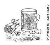 winter vector.hand drawn mug of ...   Shutterstock .eps vector #539648350