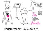 sandwich board  signposts and... | Shutterstock .eps vector #539652574