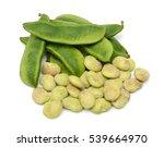 fresh lima beans isolated on... | Shutterstock . vector #539664970