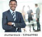 peaceful african american... | Shutterstock . vector #539669980
