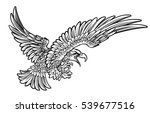 a bald or american eagle... | Shutterstock .eps vector #539677516