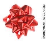 red ribbon on white background  ... | Shutterstock . vector #539678083