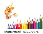 color pencil and shavings   Shutterstock . vector #539679976