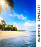 summer tropical beach  peaceful ... | Shutterstock . vector #539682364
