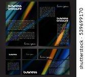 corporate identity template set.... | Shutterstock .eps vector #539699170
