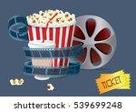 movie popcorn film tickets | Shutterstock .eps vector #539699248