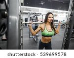 beautiful muscular fit woman... | Shutterstock . vector #539699578