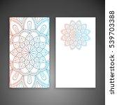 business card. vintage... | Shutterstock . vector #539703388