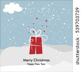 blue merry christmas card with... | Shutterstock .eps vector #539703739