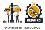 horizontal banner template on...   Shutterstock .eps vector #539703928