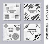 set of trendy cards with flat... | Shutterstock .eps vector #539721508