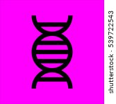 dna icon flat disign
