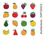 fresh fruit vector...   Shutterstock .eps vector #539724313