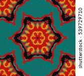 vector colorful bohemian... | Shutterstock .eps vector #539729710