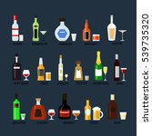 collection bottles of alcohol... | Shutterstock . vector #539735320
