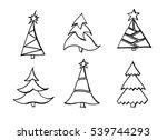 christmas tree | Shutterstock . vector #539744293