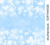 winter background with... | Shutterstock .eps vector #539744530