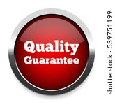 quality guaranteed  button | Shutterstock .eps vector #539751199