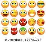 Emoticons Or Smileys Icons Set...