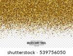 golden shiny tinsel square... | Shutterstock .eps vector #539756050