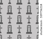 vector gravestone seamless... | Shutterstock .eps vector #539756218