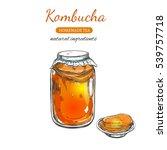 kombucha homemade tea... | Shutterstock .eps vector #539757718