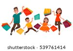 happy family shopping. mother ... | Shutterstock .eps vector #539761414