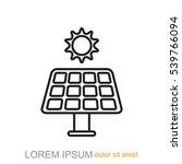 line icon  solar panel   Shutterstock .eps vector #539766094