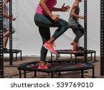 Mini Trampoline Workout  Girl...