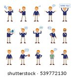 set of businessman characters... | Shutterstock .eps vector #539772130