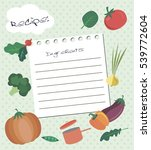 vector template of recipe card. ... | Shutterstock .eps vector #539772604