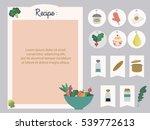 vector template of recipe card. ... | Shutterstock .eps vector #539772613