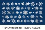 50 different vector 3d snowflakes set
