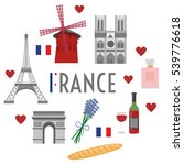 france travel and culture | Shutterstock .eps vector #539776618