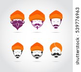 guru icon or mascot shape... | Shutterstock .eps vector #539776963